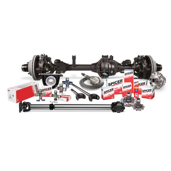 Spicer - Chromoly Axle Shaft and Joint Assembly Kit - Jeep Gladiator JT and Wrangler JL - Dana 44 AdvanTEK Wide Track ELD Front - Includes FAD Removal